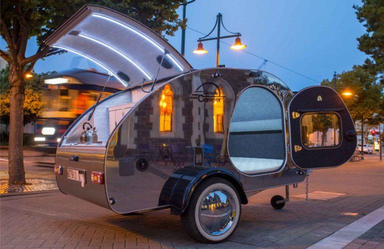 lifestyle camper norge steeldrop teardrop campingvogn produktfoto 2