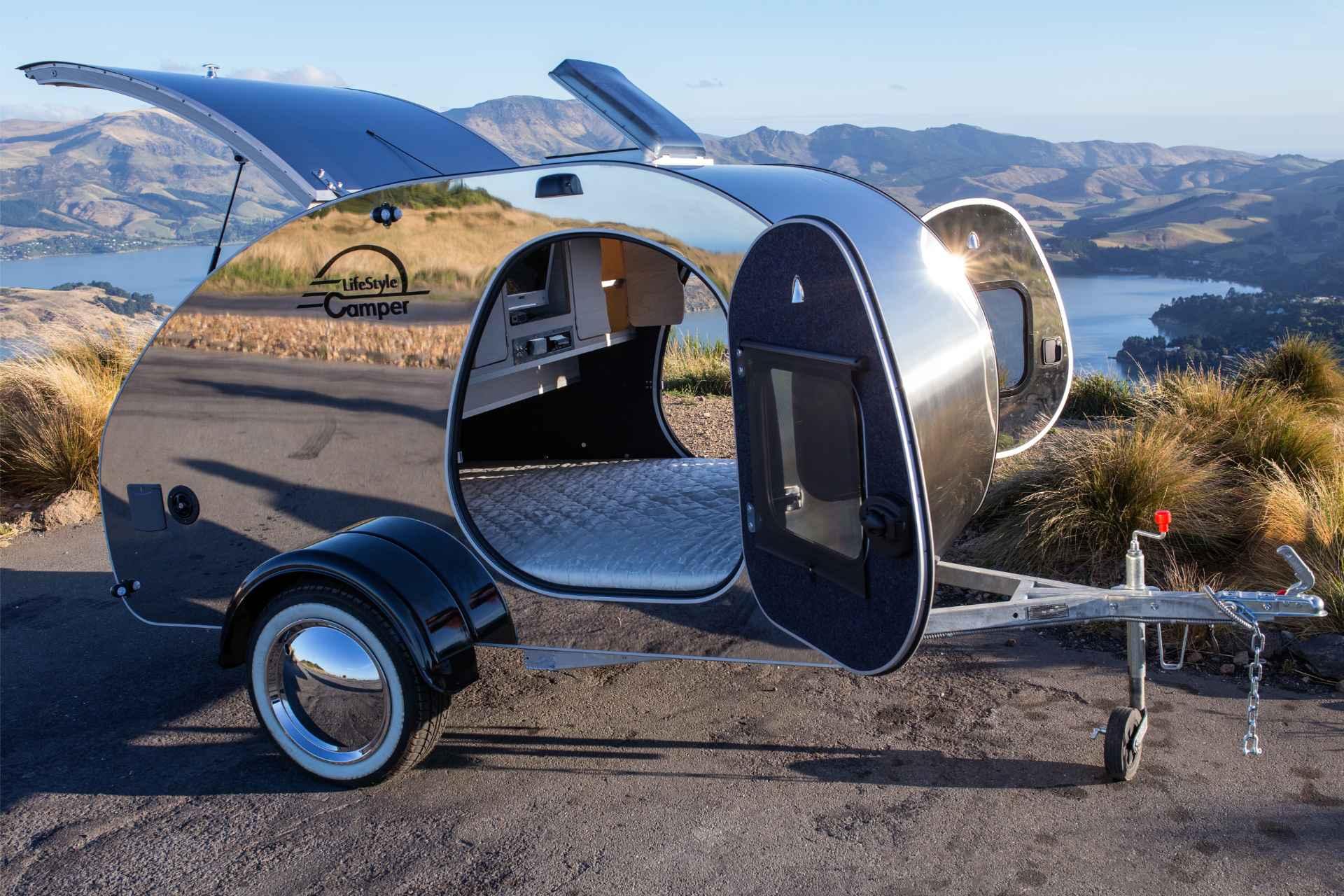 lifestyle camper norge steeldrop teardrop campingvogn produktfoto 3